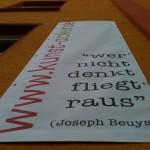 """""""Wer nicht denkt fliegt raus"""" – Joseph Beuys"""